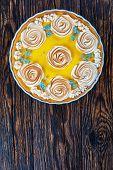 Постер, плакат: Classic Lemon Tart View From Above