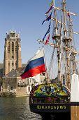 Russian Replica Galleon The Shtandart, Docked In Dordrecht