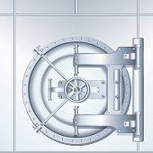 Ilustração em vetor detalhado do banco abobadados porta