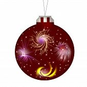 New Year (Christmas) a ball of dark red (maroon) colors