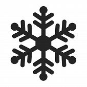 Snowflake Icon Isolated On White Background. Snowflake Icon Modern Symbol For Graphic And Web Design poster