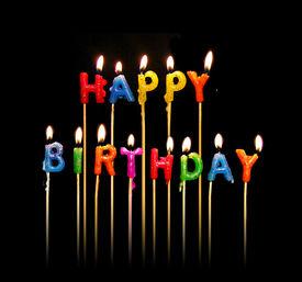 image of happy birthday  - a photo of happy birthday candles - JPG