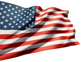 image of waving american flag  - Close up of the American flag - JPG