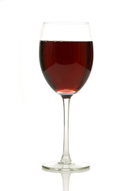 stock photo of wine-glass  - a Glass of wine on white background - JPG