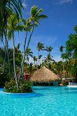 Exotic swimming pool in Dominican Republic