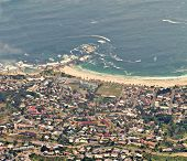 aerial view of Cape town in South Africa, cableway from the  table mountain poster