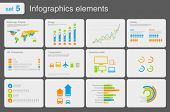 Infographics elements with icons.Multiuse! For business and finance reports, statistics, diagram graph