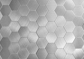 Silver Hexagons, There Are A Lot Of Figures, Gold Objects, Texture Of Metal, A Background From Figur poster