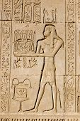 Priest offering to Ancient Egyptian god Ka