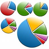 picture of pie-chart  - Bussiness pie chart symbol or icon for your web blog - JPG