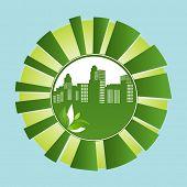 cidade verde no sol estourar o conceito ambiental