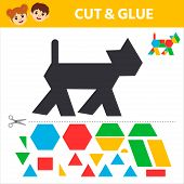 Education Logic Game For Preschool Kids. Find A Match Between A Marine Animal And Geometric Shapes.  poster