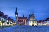 St. Egidius Basilica And City Hall In Old City Of Bardejov, Slovakia, Hdr poster