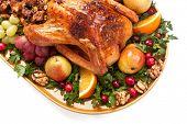 vacaciones asan Turquía con fruta y relleno de masa madre