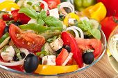 healthy greek salad bowl