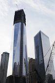 NEW YORK CITY, USA - JUNE 9: The new One World Trade Center tower is being built on the WTC site. June 9, 2012 in New York City, USA