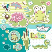 lake party scrapbook set