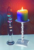 Abstract Candle And Thermometer