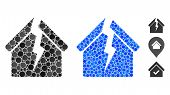 Housing Crisis Composition Of Round Dots In Various Sizes And Color Tints, Based On Housing Crisis I poster