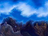 Artificial Cloudscape poster