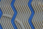 Brown Blue Texture Of A Piece Of Plastic Sole With A Pattern poster