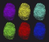 colored fingerprints