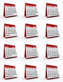 2013 year monthly calendar