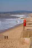 Exmouth beach and sea Devon
