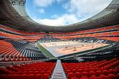 Donbass Arena Stadium In Donetsk, Ukraine.