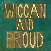 foto of wiccan  - Earthy background image and design element depicting the words  - JPG