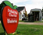 Pitted Pie Cherries Sign In Michigan