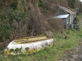 Boat And Sheds Seascape