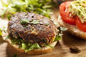Caseiro hambúrguer de cogumelo orgânico vegetariano