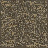 shaman brown background