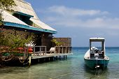 Caribbean House With Boat