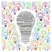 Creativity concept in word collage