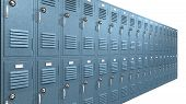 Blue School Lockers Perspective