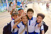 Gelukkig Vietnamees Boys