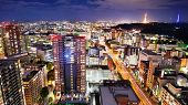 Sendai, Japan downtown cityscape.