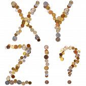 X-Y-Z-!-? alphabet letters from the coins