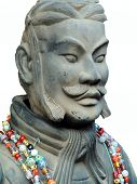 stock photo of qin dynasty  - terracotta soldier of ancient chiese emporer qin shihuang - JPG