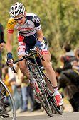 BARCELONA - el 24 de marzo: Tim Wellens Lotto-Belisol cabalga solo durante el Tour de Cataluña ciclismo ra