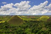 picture of chocolate hills  - View of the Chocolate Hills in Bohol - JPG