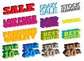 3D Sale Messages