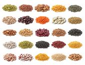stock photo of pinto  - Legume collection isolated on white background - JPG