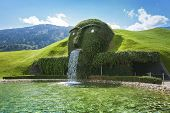 WATTENS, AUSTRIA - AUGUST 11: Entrance to Swarovski Kristallwelten exhibition on August 11, 2013 nea