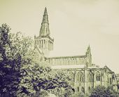 Vintage Sepia Glasgow Cathedral