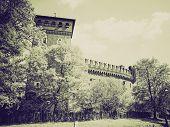 Постер, плакат: Vintage Sepia Medieval Castle Turin