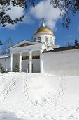 Mihaylovskiy Cathedral And Fortress Wall