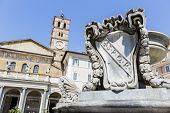 Piazza Di Santa Maria In Trastevere In Rome, Italy